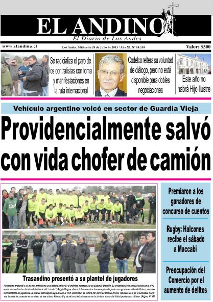 Diario el Andino 29 de Julio 2015 - 1